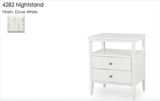 4282 Nightstand finished in Dove White
