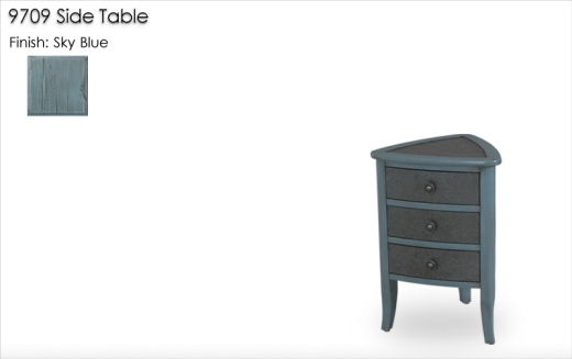 9709 Side Table finished in Sky Blue