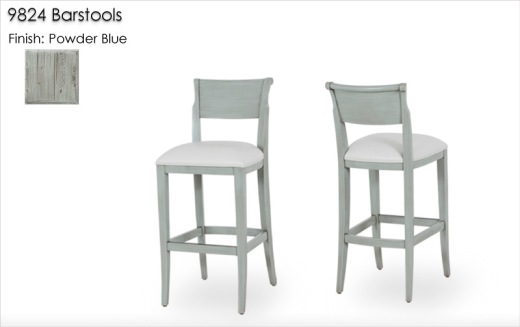 9824 Barstools finished in Powder Blue