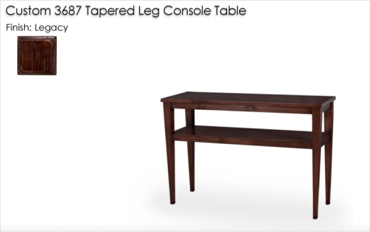Custom 3687 Cokctail Table finished in Legacy