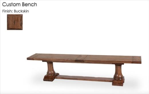 Custom Bench finished in Buckskin