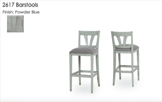 2617 Barstools finished in Powder Blue