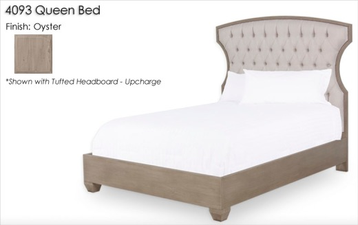 4093 Queen Bed finished in Oyster