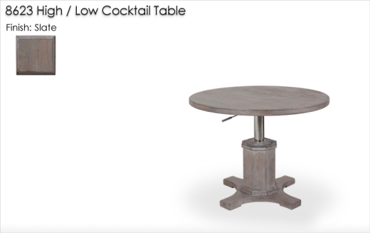 8623 High / Low Cocktail Table finished in Slate