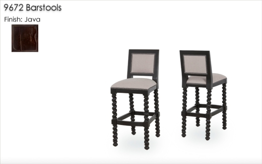 9672 Barstools finished in Java