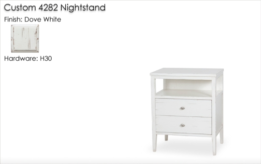 Custom 4282 Nightstand finished in Dove White