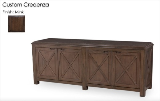 Custom Credenza finished in Mink