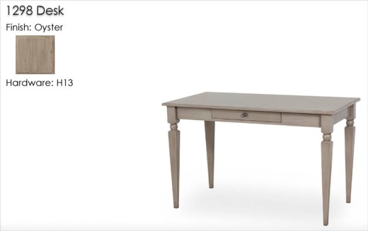 1298 Desk with H13 hardware finished in Oyster