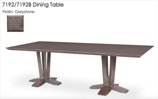 7192/7192B DIning Table finished in Greystone