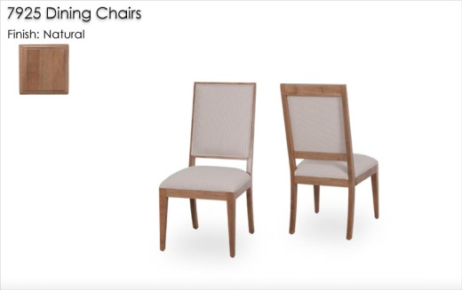 7925 Dining Chairs finished in Natural