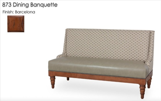 873 Dining Banquette finished in Barcelona