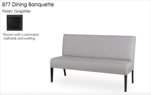877 Banquette finished in Graphite