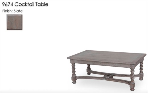 9674 Cocktail Table finished in Slate
