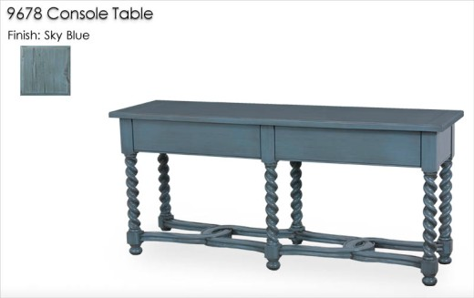 9678 Console Table finished in Sky Blue