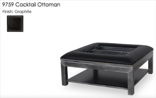9759 Cocktail Ottoman finished in Graphite