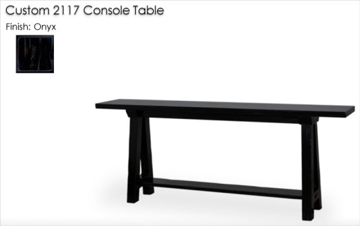 Custom 2117 Console Table finished in Onyx