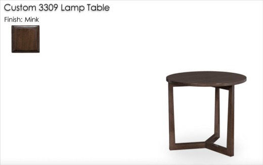 Custom 3309 Lamp Table finished in Mink