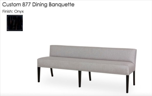 Custom 877 Banquette finished in Onyx