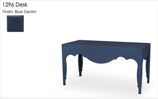 1296 Desk finished in Blue Denim