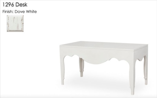 1296 Desk finished in Dove White