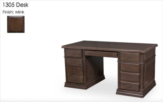 1305 Desk finished in Mink