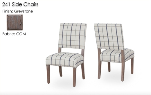 241 Side Chairs finished in Greystone