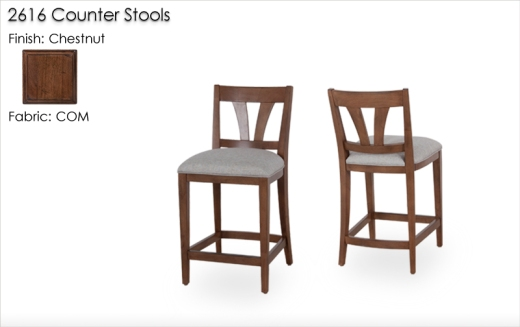 2616 Counter Stools finished in Chestnut