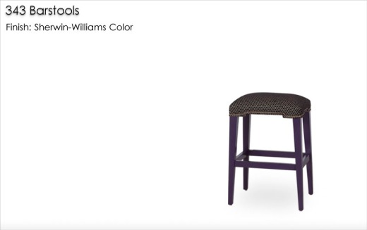 343 Barstools finished in a Sherwin-Williams Color