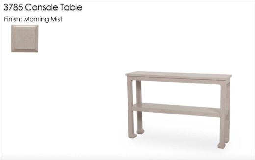 3785 Chow Leg Console Table finished in Morning Mist