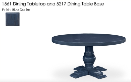 1561 / 5217 DIning Table finished in Blue Denim