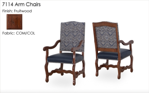 7114 Arm Chairs finished in Fruitwood