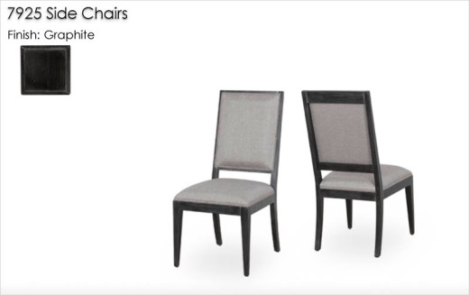 7925 Side Chairs finished in Graphite
