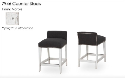 946 Counter Stools finished in Marble