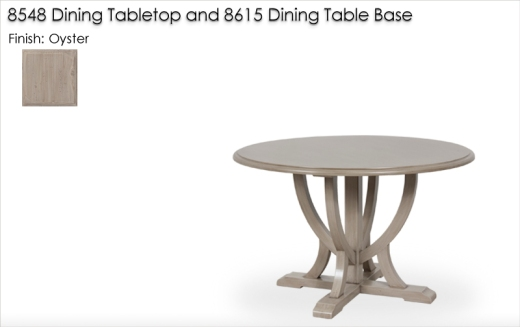8615 / 8548 Dining Table finished in Oyster