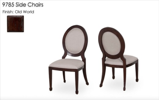 9785 Side Chairs finished in Old World
