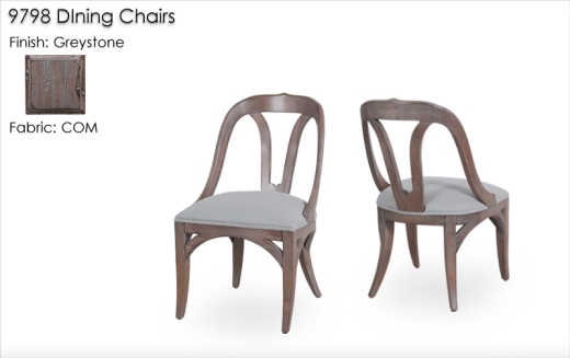 9798 Dinuing Chairs finished in Greystone