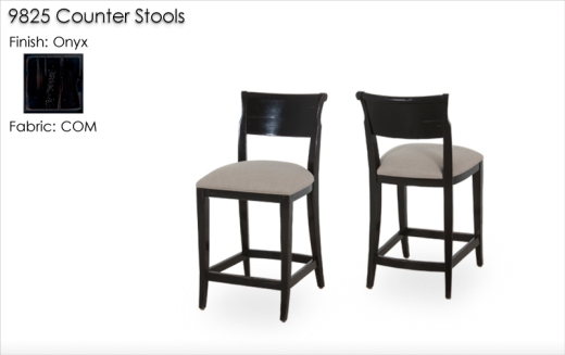 9825 Counter Stools finished in Onyx