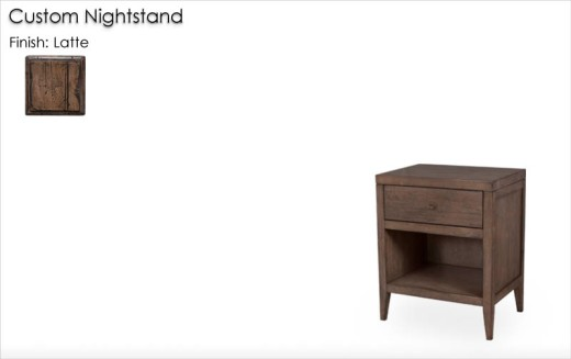 Custom Nightstand finished in Latte