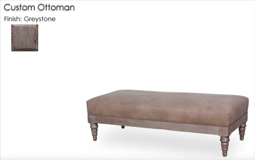 Custom Ottoman finished in Greystone