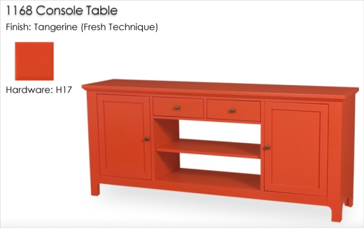 1168 Console finished in Tangerine (Fresh Technique)