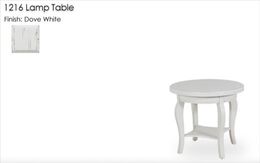 1216 Lamp Table finished in Dove White