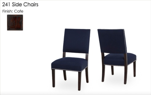 241 Side Chairs finished in Cafe
