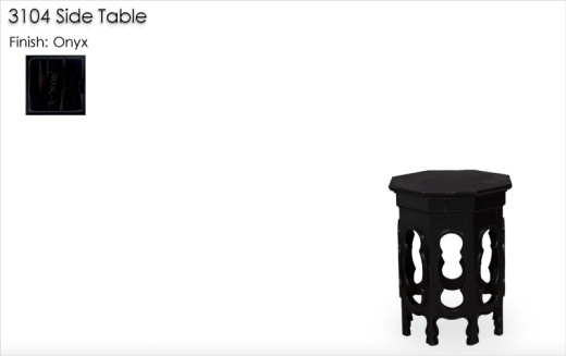 3104 Side Table in Onyx