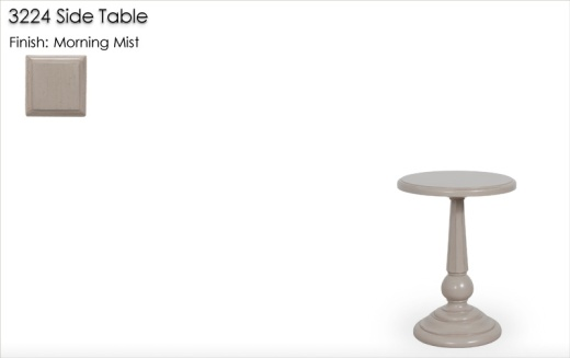 3224 Side Table finished in Morning Mist