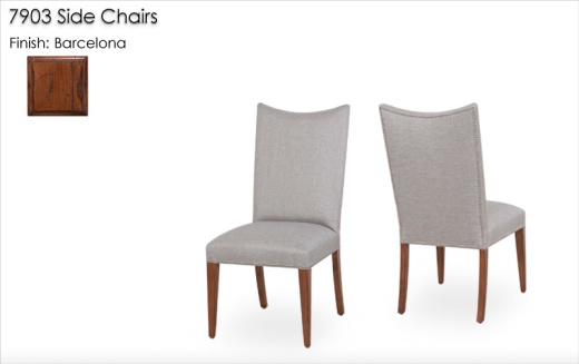7903 Side Chairs finished in Barcelona