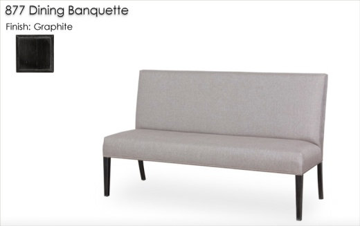 877 Dining Banquette finished in Graphite