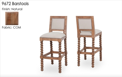 9672 Barstools finished in Natural