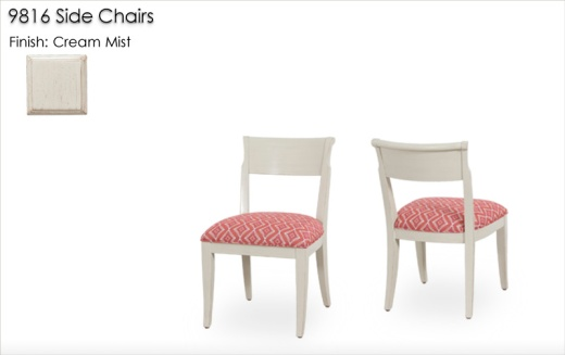 9816 Side Chairs finished in Cream Mist
