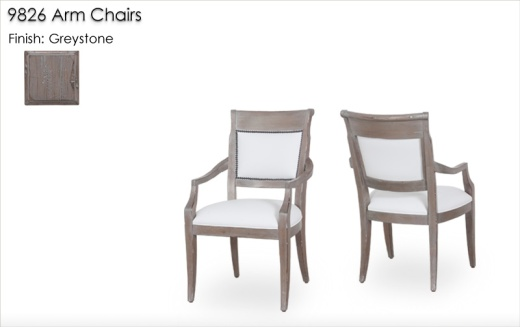 Arm Chairs finished in Greystone