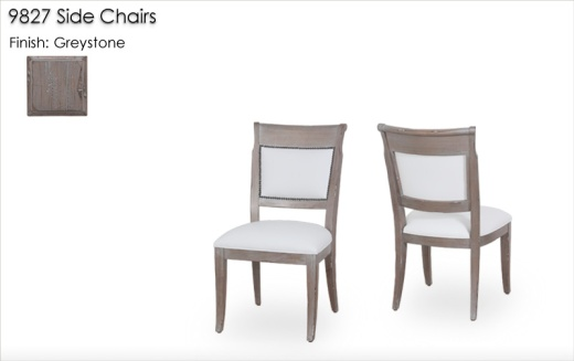 9827 Side Chairs finished in Greystone